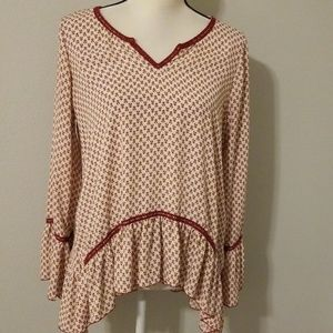 About a Girl flowy ruffle blouse